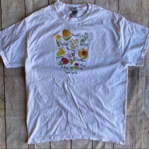 Gardening T-Shirt Flowers Daisy Marigold Cottage